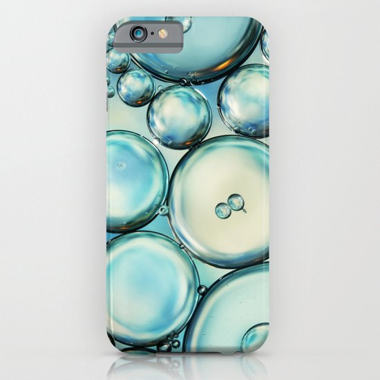 Sky Blue Bubble Abstract iPhone & iPod Case