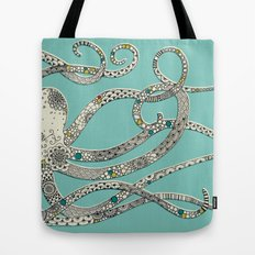 Green Octopus Tote Bag