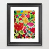 Flowers Framed Art Print