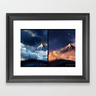 The Hobbit: There And Ba… Framed Art Print