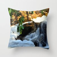 Winter's Rush Throw Pillow