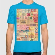 Places, Elsewhere Mens Fitted Tee Teal SMALL