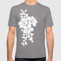 Hibiscus Animal: Ivory  Mens Fitted Tee Tri-Grey SMALL