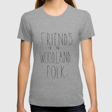 Friends Of The Woodland … Womens Fitted Tee Tri-Grey SMALL