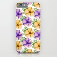 iPhone Cases featuring Yellow and violet by Julia Badeeva