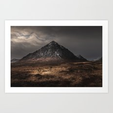 The Buachaille Dusk Art Print