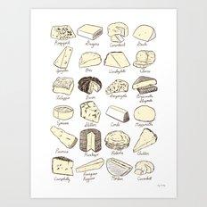 Cheeses is Love Art Print