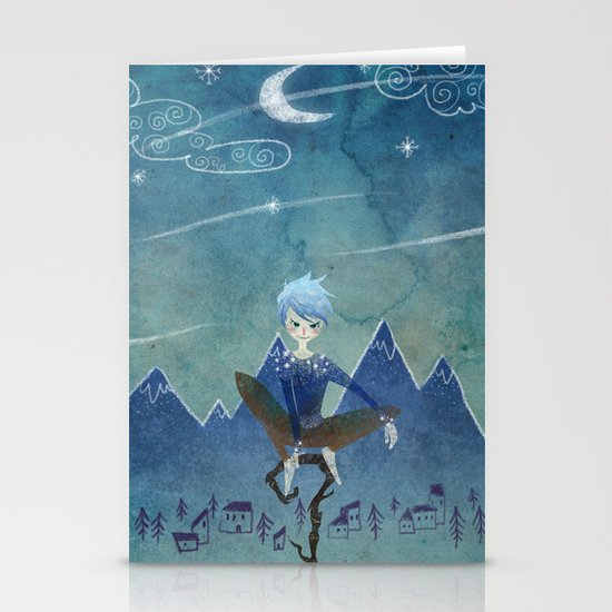 Jack Frost Stationery Card