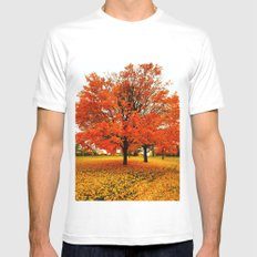Changing Colors. White Mens Fitted Tee SMALL