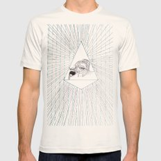 All Seeing Eye Mens Fitted Tee Natural SMALL