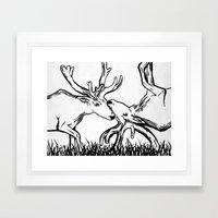 Reverse Caribou Framed Art Print