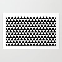 Equilateral Triangles Art Print