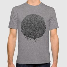 Black Sphere Mens Fitted Tee Tri-Grey SMALL