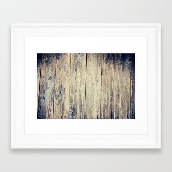 Wood Photography II Framed Art Print