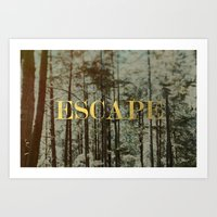 Escape x Forest Art Print