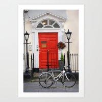 Dublin Bycicle Art Print