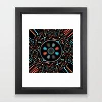 Abstract on black Framed Art Print