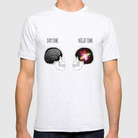 Day and Night Mens Fitted Tee Ash Grey SMALL