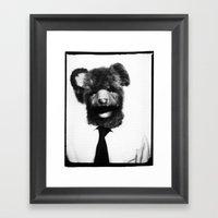 Papa Bear Framed Art Print