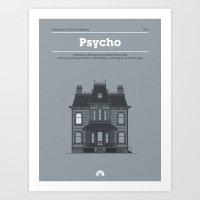 Horror Film Houses 01 Art Print
