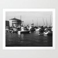 Catalina Harbor Art Print