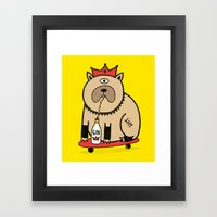 My Dog Loves Gin - Colou… Framed Art Print