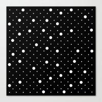 Pin Point Polka Dots Whi… Canvas Print