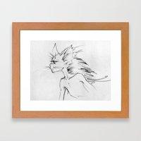Cat-boy Framed Art Print