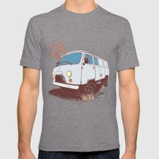 UAZ 452 Mens Fitted Tee Tri-Grey SMALL