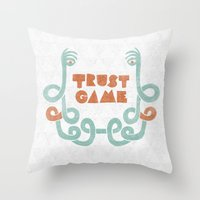 Trust Game. Throw Pillow