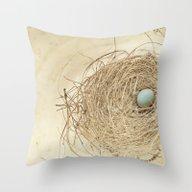 Throw Pillow featuring Petit Nest by Maureen Anne