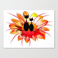 FlowerCats Canvas Print