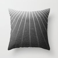 Endless Rows Throw Pillow