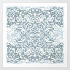 Lace Geometric // Kaleidoscope of blues Art Print