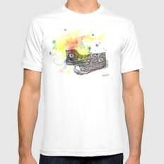 Converse Sneakers Painting Mens Fitted Tee White SMALL