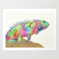 Devious Reptillian Art Print