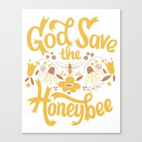 God Save the Honeybee Canvas Print