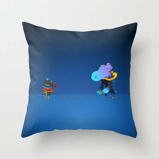 Thread Troll Throw Pillow