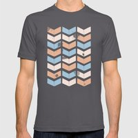 stamb chevron 2 Mens Fitted Tee Asphalt SMALL