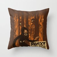 Bigfoot spotted on… Throw Pillow