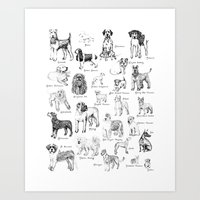 Dog Alphabet Illustratio… Art Print
