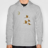 Moon-lit Flight (landsca… Hoody