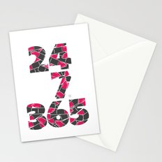 24-7/365 (Lipstick) Stationery Cards