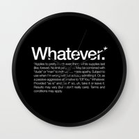 Whatever.* Applies To Pr… Wall Clock