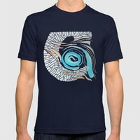 Horn-swirl Inv Mens Fitted Tee Navy SMALL