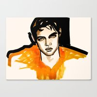 Canvas Print featuring Intense Orange by Jessica Tobin