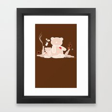 A Night with Ted Framed Art Print
