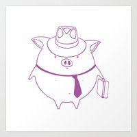 Piggy 01 Art Print