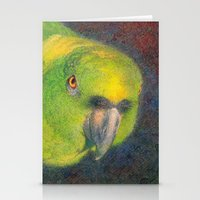 Green Parrot Stationery Cards