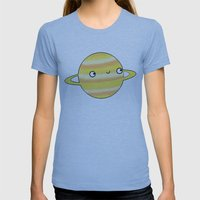 Saturn Womens Fitted Tee Athletic Blue SMALL